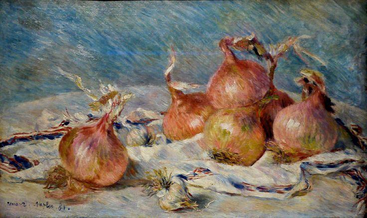The Persephone Post: Artists, Art Museums, Favorite Artworks, Pierre August Renoir, Onions 1881, Pierreaugust Renoir, Paintings, Natural Death
