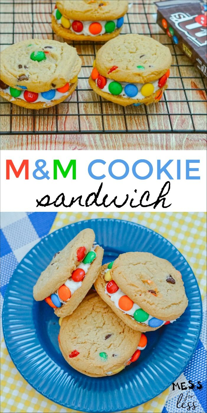 What S Better Than M M S M M Cookie Sandwiches Combine Your Favorite Candy With A Yummy Cooking A Sandwich Cookies Yummy Cookies Skillet Chocolate Chip Cookie