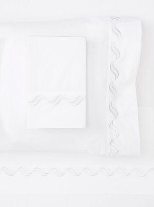 55% OFF Westport Linens Scroll Sheet Set (White)