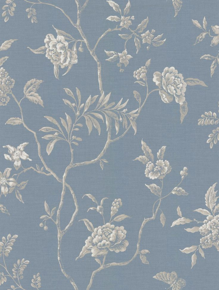 Swedish Tree Navy wallpaper by Colefax and Fowler