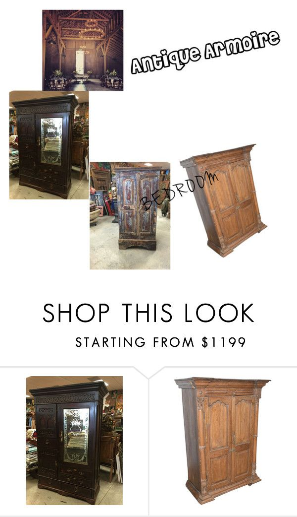 """Antique Rustic Armoire"" by era-chandok ❤ liked on Polyvore featuring interior, interiors, interior design, home, home decor, interior decorating, rustic, wardrobe, armoire and storagecabinate"