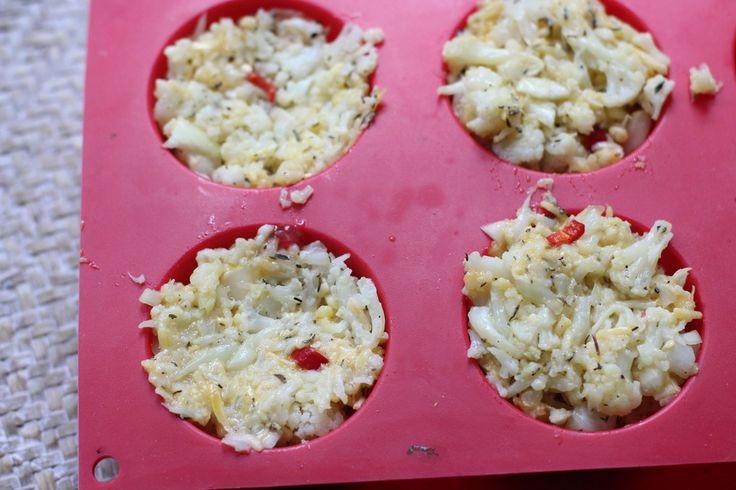 Bloemkooltaartjes uit de oven