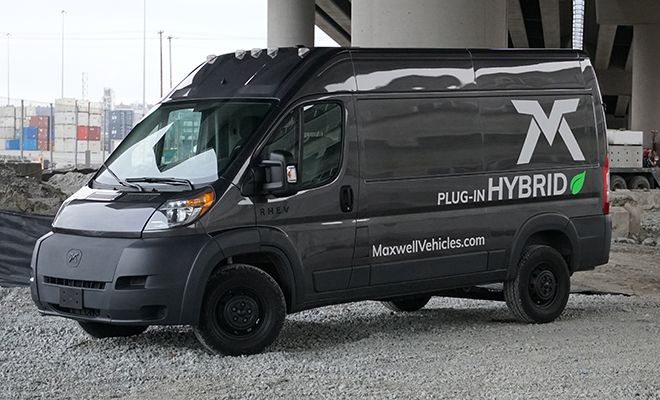 Charged Evs Maxwell Vehicles Retrofits Ram Promaster Vans With