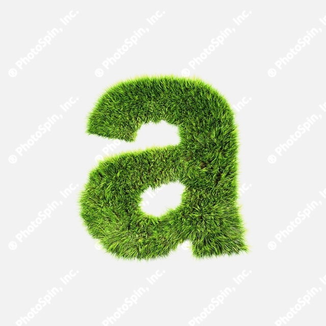 Grass lower-case letter - A by Chrisroll