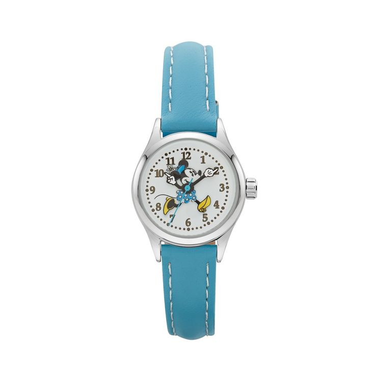 The Original Mickey Collection Watch - Minnie Mouse Silver + Aqua 25mm