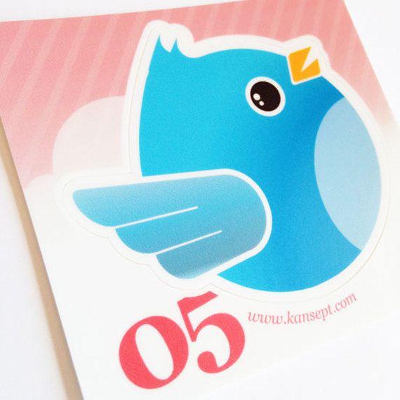Qt Bird . iPad Sticker . Vinyl Decal . Laminated Sticker