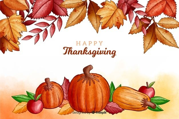 Download Thanksgiving Background In Watercolor For Free In 2020 Thanksgiving Background Thanksgiving Poster Thanksgiving Design