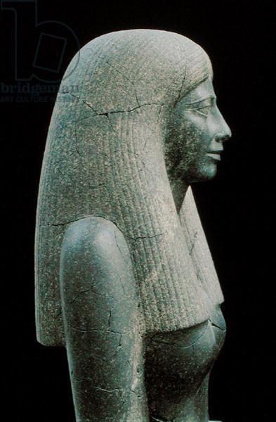 Statue of Lady Sennuwy, probably for Tomb of Djefaihapu, Asyut, Egypt, found in…