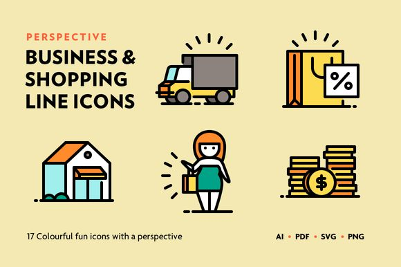 Perspective Business & Shopping Icon by Catalin Mihut https://creativemarket.com/cmihut/449962-Perspective-Business-Shopping-Icon