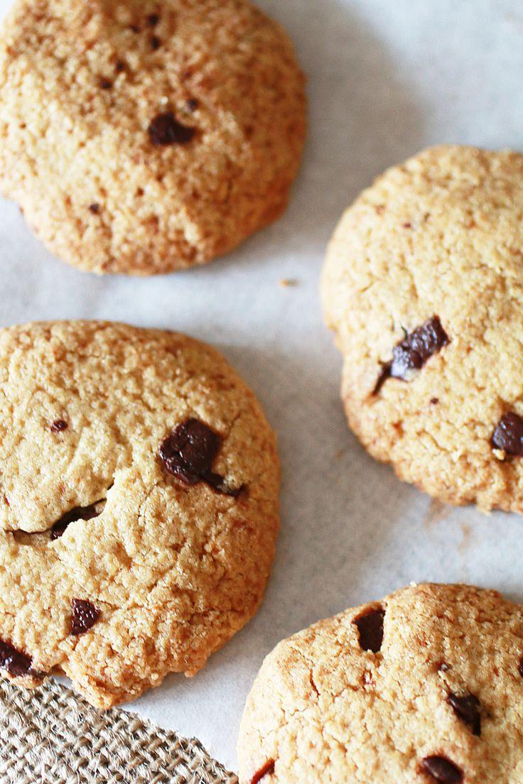 Biscotti con Gocce di Cioccolato e Farina di Avena (Senza Glutine) | Dolce Senza Zucchero