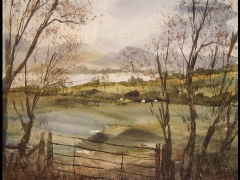 Watercolour landscape painting tutorial featuring view towards Ullswater