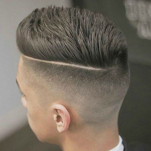 Fade hairstyle with pompadour style