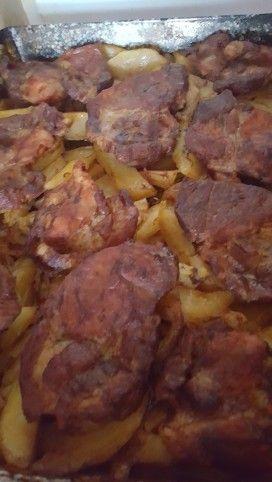 Tepsis tarja vele sült krumplival Recept képpel - Mindmegette.hu - Receptek