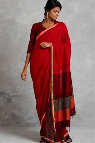 fb9405f54 Entrancing Red Colored Soft Silk Saree For Women