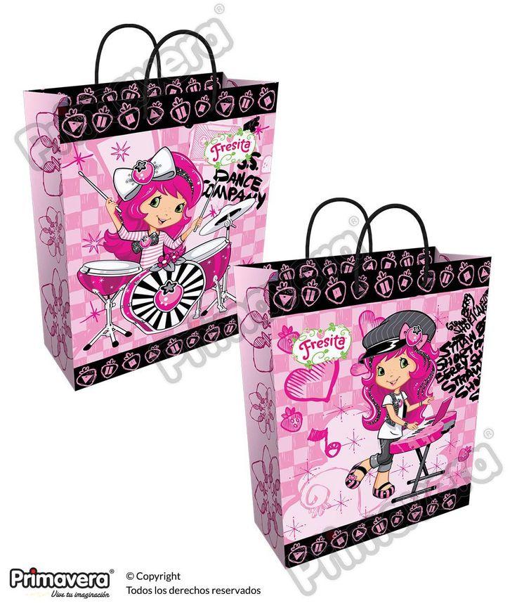Bolsa Regalo Premium Fresita http://envoltura.papelesprimavera.com/product/bolsa-regalo-personajes-nina-premium-fresita/
