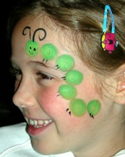 Fun and easy caterpillar face paint