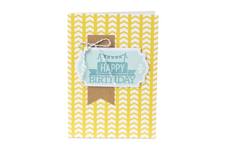 One of the 20 cards you can make with Stampin' Up!'s Everyday Occasions Cardmaking Kit!: Cards Kits, Cardmaking Kits, Birthday Cards, Cards Happy Birthday, Cards Everyday, Occa Cardmaking, Occa Cards, 20 Cards, Everyday Occasion