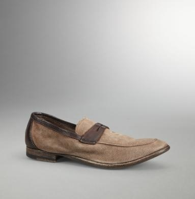 """PRE-ORDER NOW SHIPS BY FEBRUARY 25.This loafer gets a casual-cool vibe from durable canvas and a tongue with a frayed finish, while a leather   penny slot keeps it classic. It'll add on-trend sophistication to dark jeans.    canvas loafer   leather penny slot strap   tongue with fraying   leather on topline and back counter   .75"""" heel   made in Italy   imported"""