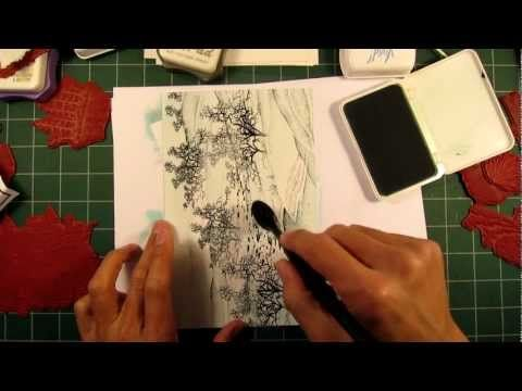Stampscapes 101: Video 21A.  Snowy Oaks in the Mist.  Part I.