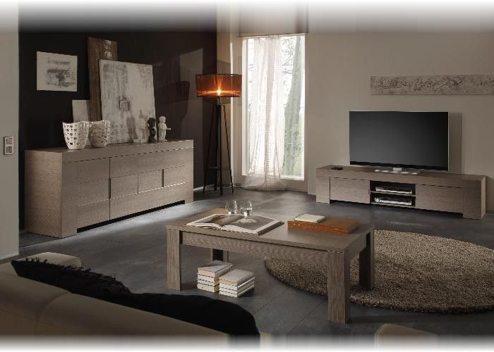 Wohnzimmer komplett Eros Eiche, Grau Bild 1