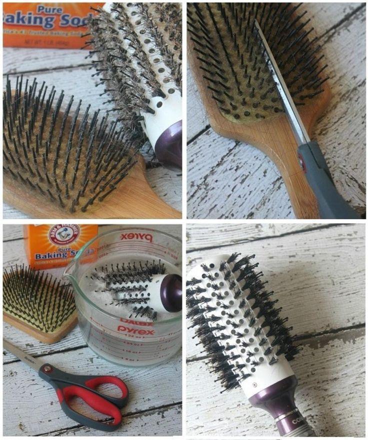 Avec cette astuce, quelques minutes suffiront pour laver à fond une brosse à cheveux! - Trucs et Astuces - Trucs et Bricolages