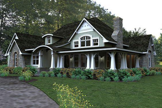 Craftsman Style House Plan - 3 Beds 3 Baths 2267 Sq/Ft Plan #120-181 Front Elevation - Houseplans.com