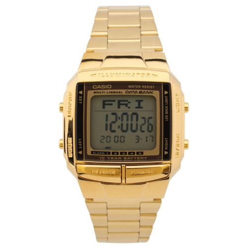 "Call @ 9769465202. Catch your ""Casio Digital Bracelet Goledn Watch"" from Shopattack.in at Rs. 3970/- only. They are unisex, branded gold watch that gives complete water resistance and other valuable configurations at the same time."