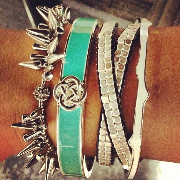 Lindsay Enamel Bangle by Stella and Dot Arm Party!