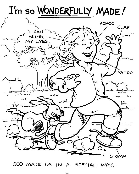 i am special coloring pages for kids - photo #1