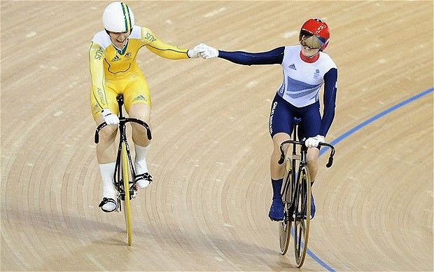 Renewed friendship: Australia's Anna Meares and Victoria Pendleton put their rivalry aside as Pendleton retires from the sport Photo: GETTY IMAGES