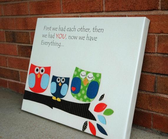 Baby room art Nursery wall art Children original by DesignByMaya, $115.00
