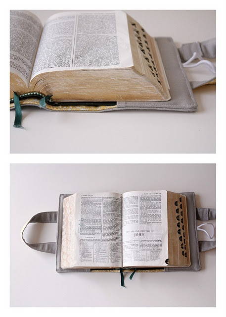 Bible cover - love this!  Free tutorial.