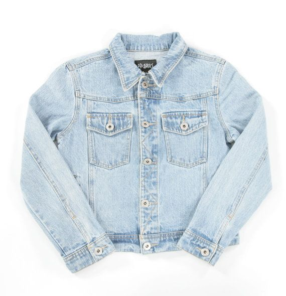 Girls vintage denim jacket. Age 810 by PeachandLoveVintage on Etsy, £15.00