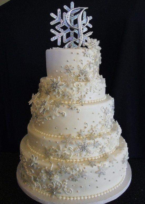 AMAZING snowflake wedding cake