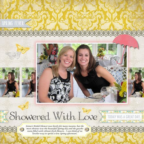 Showered With Love Digital Scrapbook Layout