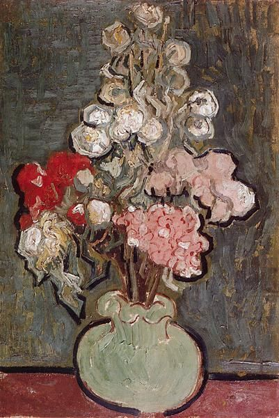 Rose with Mallows, 1890. Vincent van Gogh