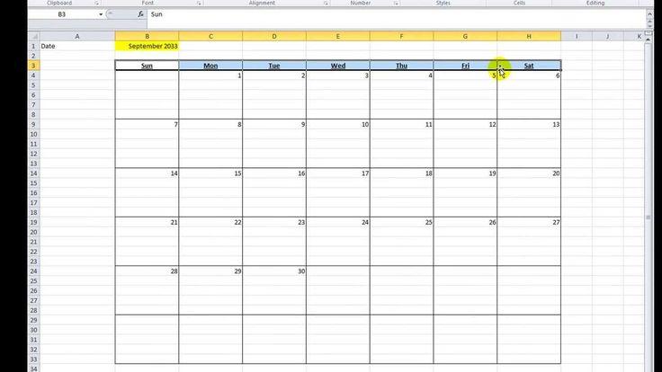 Excel VBA Tips n Tricks #16 Make a Calendar in Excel VBA