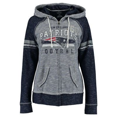 Women's New England Patriots Majestic Navy Tame The Tide Full Zip ...