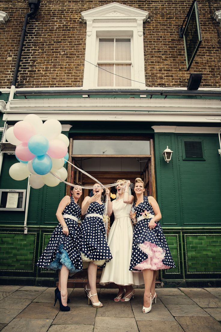 71 best bridesmaid dresses n hair images on pinterest dream pastel balloons and an audrey style dress for a very british london pub wedding ombrellifo Image collections