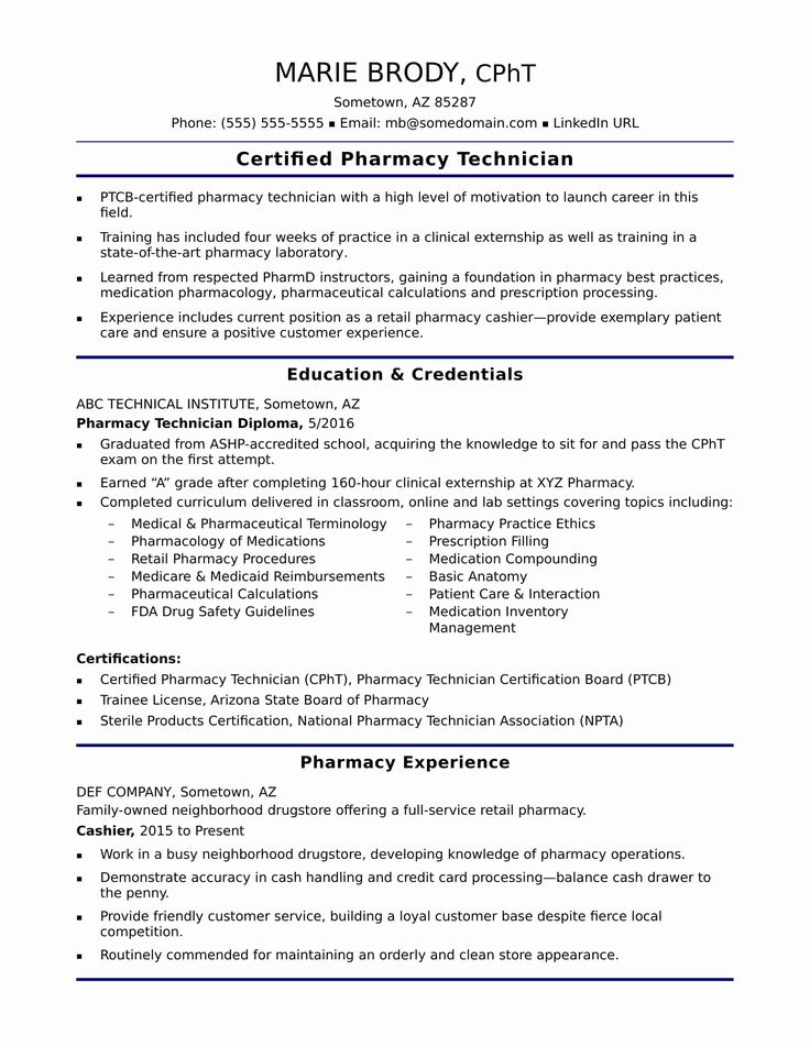 Pharmacy Technician Job Description Resume Inspirational