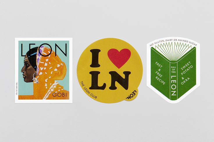 New Leon stickers designed by Hales Curtis.