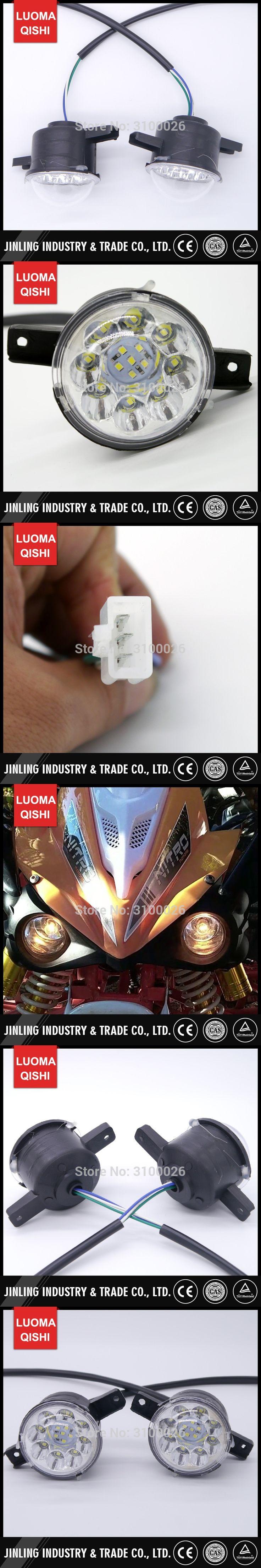 1Pair/2pcs LED Front Light of Jinling Nirtro 50cc 70cc 110cc 125cc Kids Mini ATV Quad Bike JLA-07-06 Parts