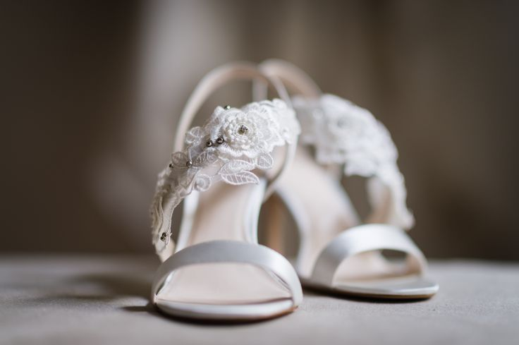 Wedding shoes by Jenny Packham. Wedding day at Villa Nozzole. Tuscany, Italy