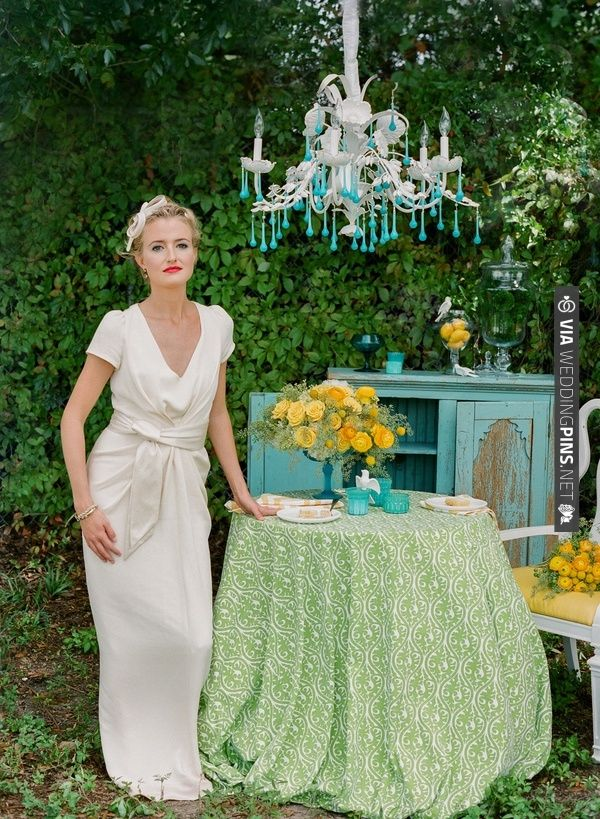 teal, green, and yellow wedding ideas // photo by pure7studios // styling by Shelby Peaden   VIA #WEDDINGPINS.NET
