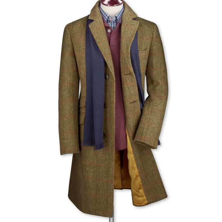 Harris tweed coat | Men's coats from Charles Tyrwhitt