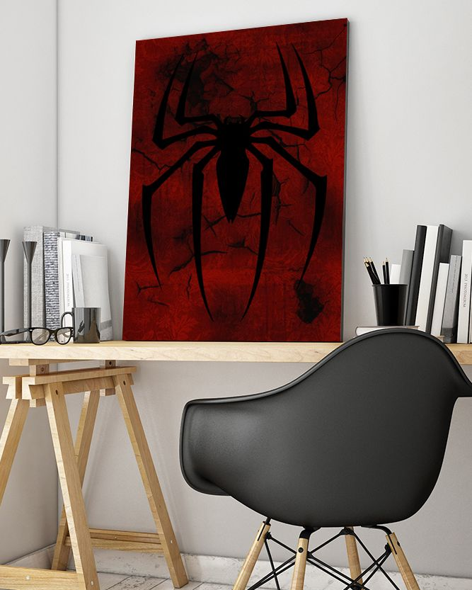 Spiderman Logo Canvas Art - Marvel Canvas Art @ http://artzeedesigns.com/products/canvas-art-marvel-inspired-art-comic-book-characters-spiderman-2-by-artzee-designs.html