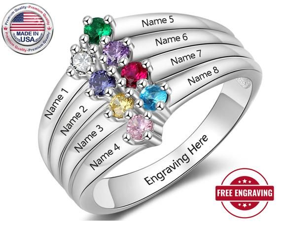 Diamond Ring CZ Diamond Designer Ring Bridesmaid Gift CZ Ring for her April Birthstone ring 925 Sterling Silver Ring Engagement Gifts