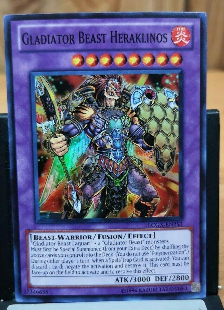 Details about gladiator beast heraklinos yugioh rare card
