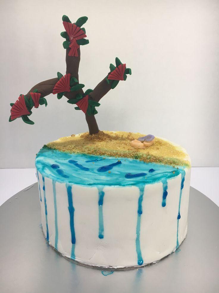 Pohutukawa Christmas cake