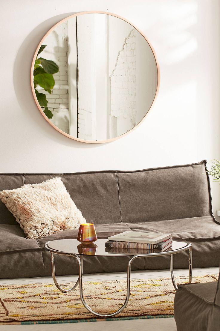 """ENTRY: Umbra Oversized Hub Mirror For over sofa. 36""""Diameter"""